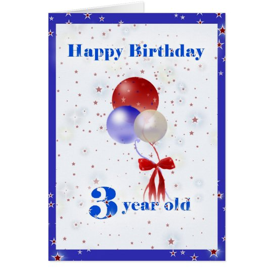 3rd Birthday Balloons Card