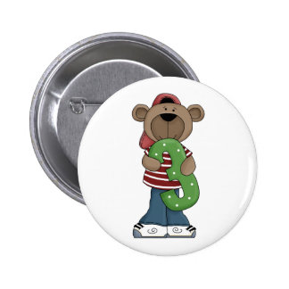 3rd. Birthday Bear Fun Pin Button