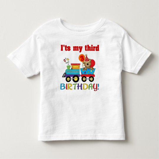 3rd birthday bear train toddler T-Shirt