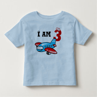 3rd birthday boy gift ( airplane ) toddler T-Shirt