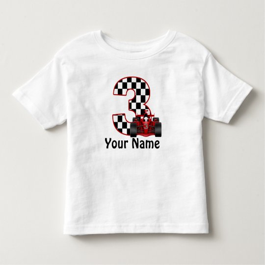 3rd Birthday Boy Personalised Race Car Shirt