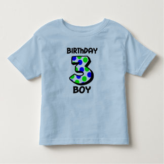 3rd Birthday Boy Shirt