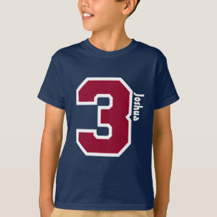 3rd Birthday Boy Three Year Custom Name V01B T Shirt