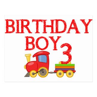 3rd Birthday Boy Train Postcard