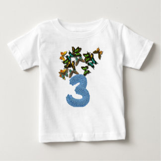 3rd birthday butterflies baby T-Shirt