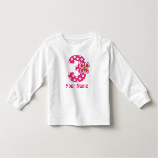 3rd Birthday Butterfly Personalized Shirt
