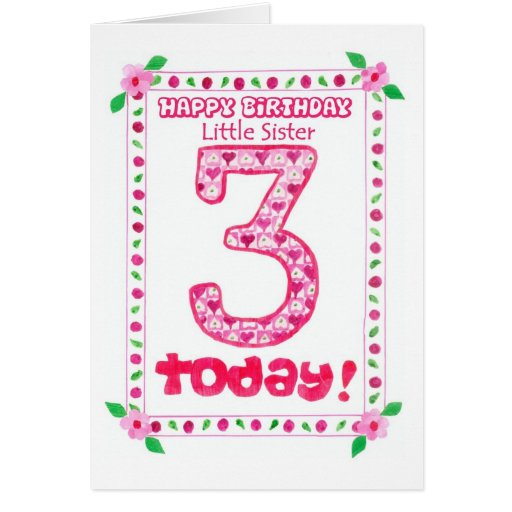 Little Sister Birthday Card Images Free Download