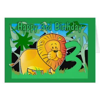 3rd Birthday Card - Lion