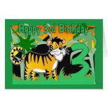 3rd Birthday Card - Tiger