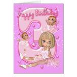 3rd Birthday Card With Cute Ballerina