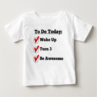3rd Birthday Checklist Baby T-Shirt