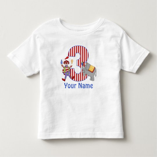 3rd Birthday Circus Personalised T-shirt