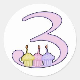3rd Birthday Classic Round Sticker