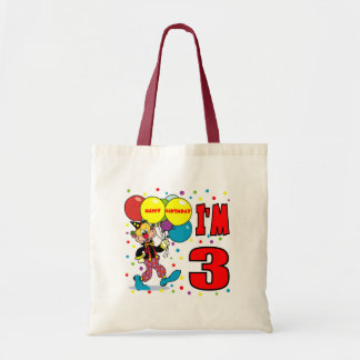 3rd Birthday Clown Birthday Tote Bag
