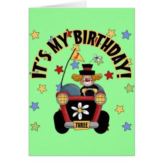 3rd  Birthday Clown Greeting Card