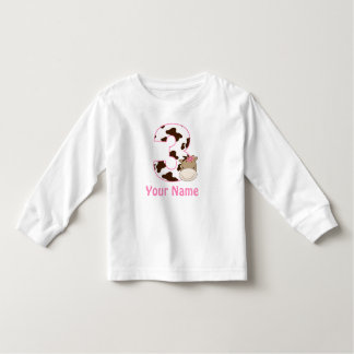 3rd Birthday Cow Print Horse Personalzied Shirt