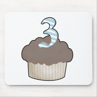 3rd Birthday Cupcake Mouse Pad