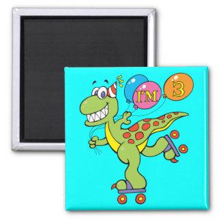 3rd Birthday Dinosaur Refrigerator Magnet