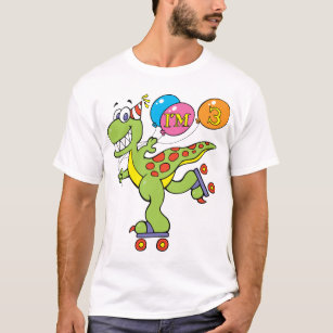 3rd Birthday Dinosaur T Shirt
