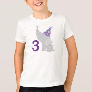 3rd Birthday Elephant T-Shirt