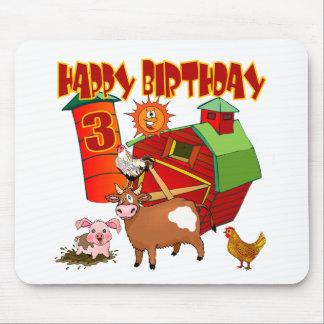 3rd Birthday Farm Birthday Mouse Pads