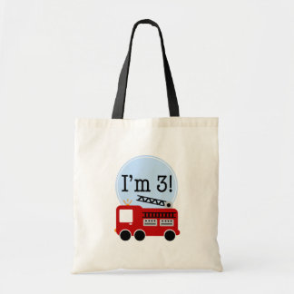 3rd Birthday Firetruck Budget Tote Bag