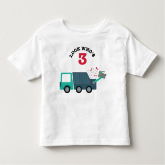 3rd Birthday Garbage Truck Party Shirt