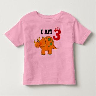 3rd birthday gift, dinosaur triceratops t shirts