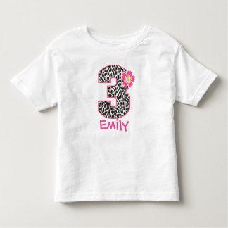 3rd Birthday Girl Hot Pink & leopard print Shirts