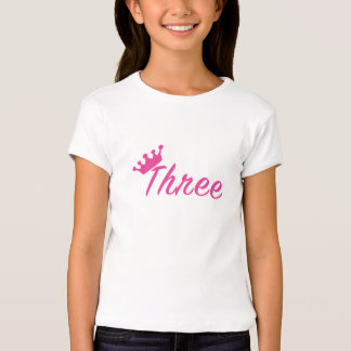 3rd Birthday Girl Tiara T Shirt - Girl BDay Shirts