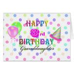 3rd Birthday Granddaughter Greeting Card