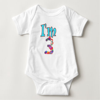 3rd birthday I'm 3 kids t-shirt