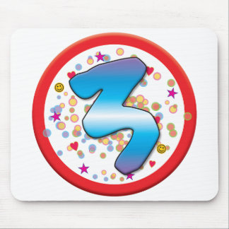 3rd Birthday Mouse Mats