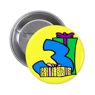 3rd Birthday Party Button