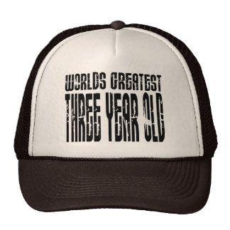 3rd Birthday Party Worlds Greatest Three Year Old Trucker Hats