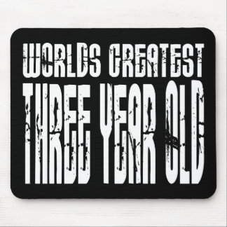 3rd Birthday Party Worlds Greatest Three Year Old Mouse Pads