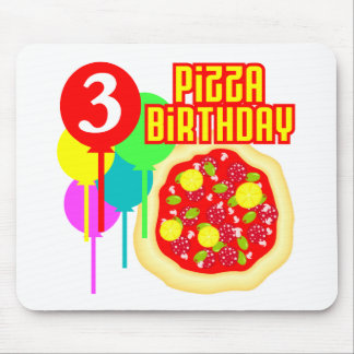 3rd Birthday Pizza Birthday Mouse Pad