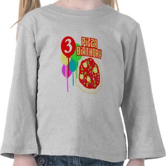 3rd Birthday Pizza Birthday Shirt