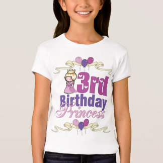 3rd Birthday Princess - Customized T-Shirt