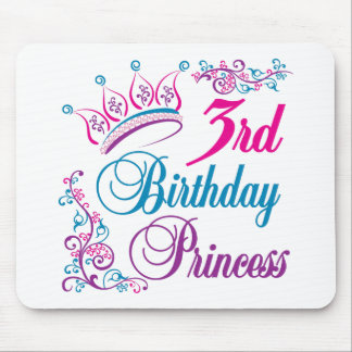 3rd Birthday Princess Mouse Pad