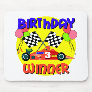 3rd Birthday Race Car Birthday Mouse Pads