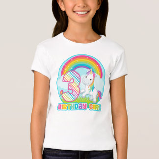 3rd Birthday Rainbow Unicorn - Birthday Girl Shirts