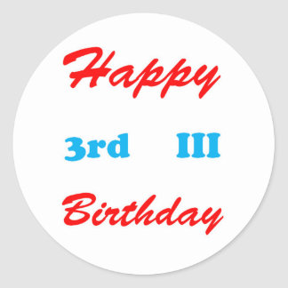 3rd Birthday RETURN GIFTS BUTTONS Shirts Stickers