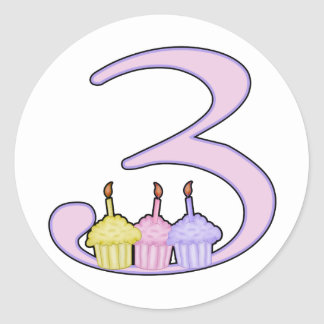 3rd Birthday Round Sticker