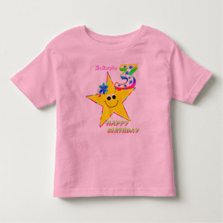 3rd Birthday Smiley Stars Shirt