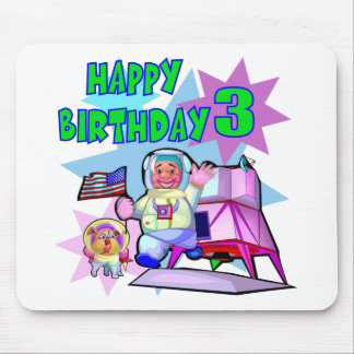 3rd Birthday Space Birthday Mouse Pad