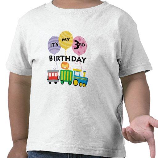 3rd Birthday Train Birthday Tee Shirt