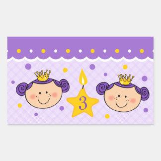 3rd Birthday Twincess Sticker
