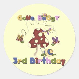 3rd Bug Birthday Tshirts and Gifts Round Sticker