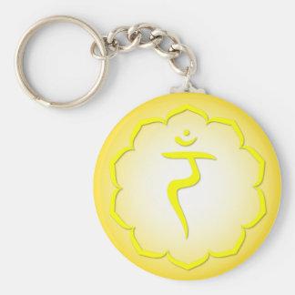 3rd Chakra - Manipura Basic Round Button Key Ring